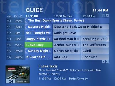 media center windows  program guide