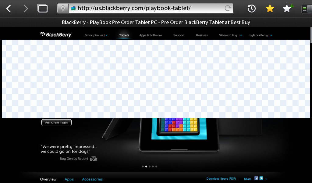The PlayBook Browser - The BlackBerry PlayBook Review