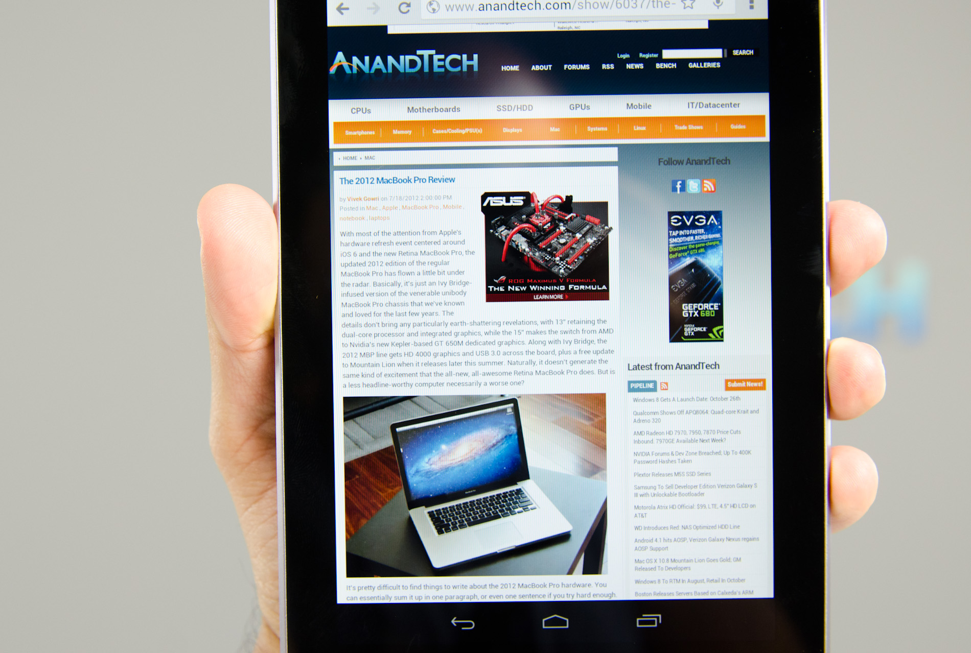 The Nexus 7 isn't just a great Android tablet, it's a great tablet.