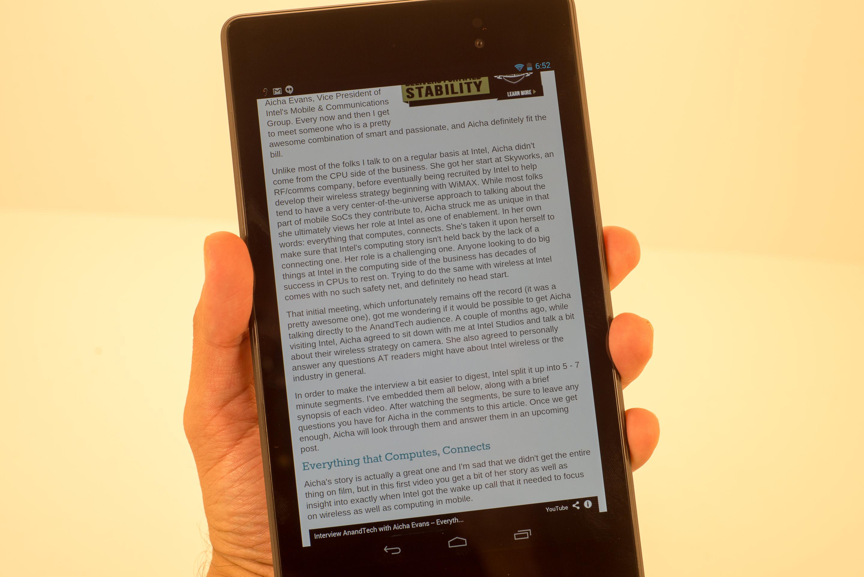 ebook sur nexus 7