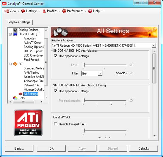 ati catalyst control center 6: